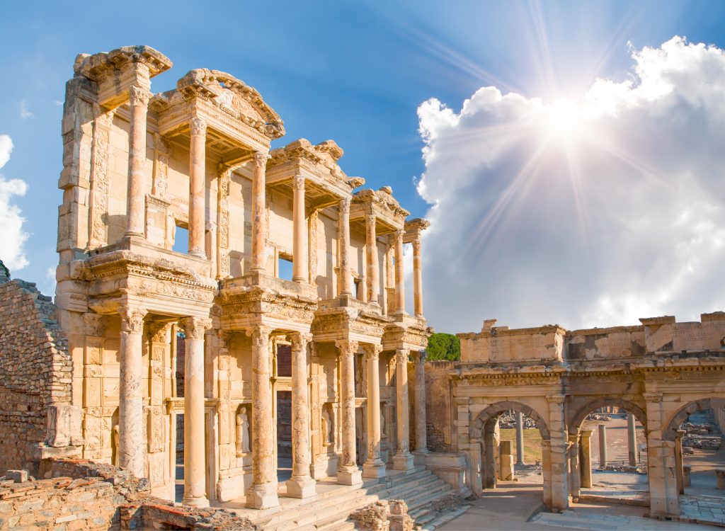 Efes Antik Kenti. Celsus Library in Ephesus, Turkey